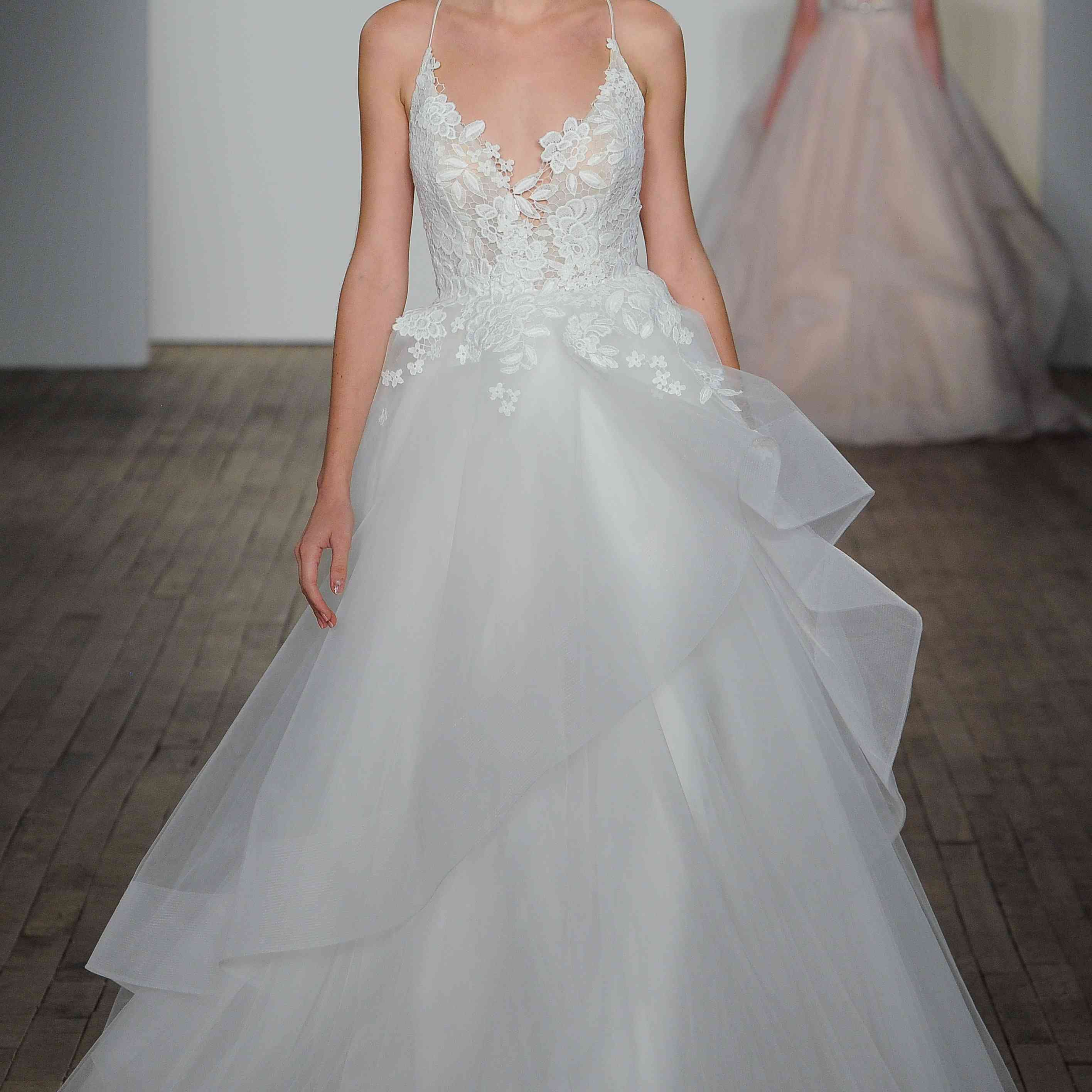 Clover sleeveless A-line wedding dress
