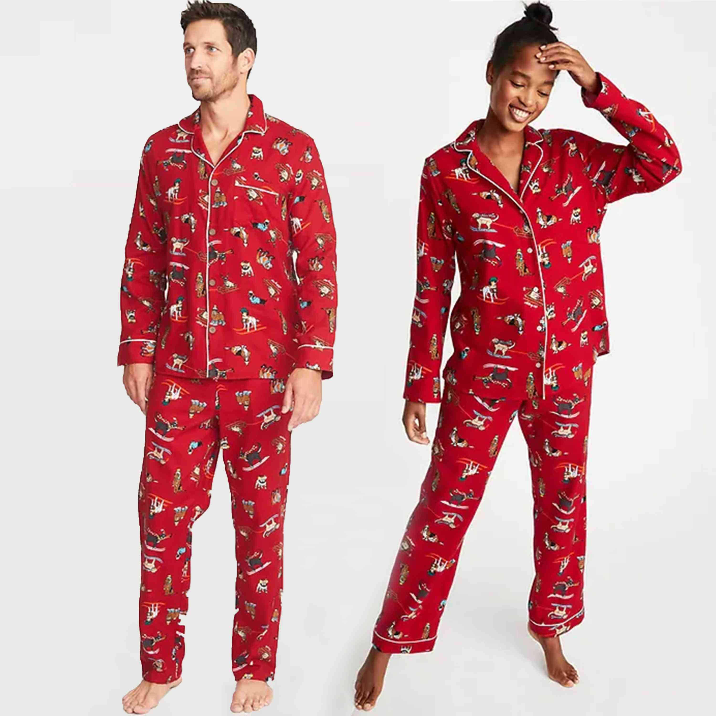 Image result for matching couple pajamas