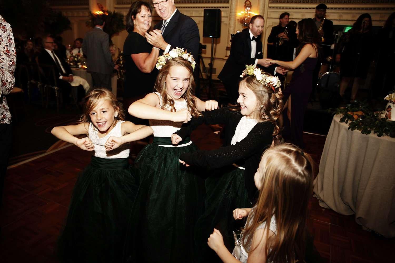 <p>flower girls on the dance floor</p><br><br>