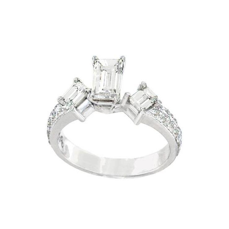 Fancy Baguette-Cut Diamond Engagement Ring