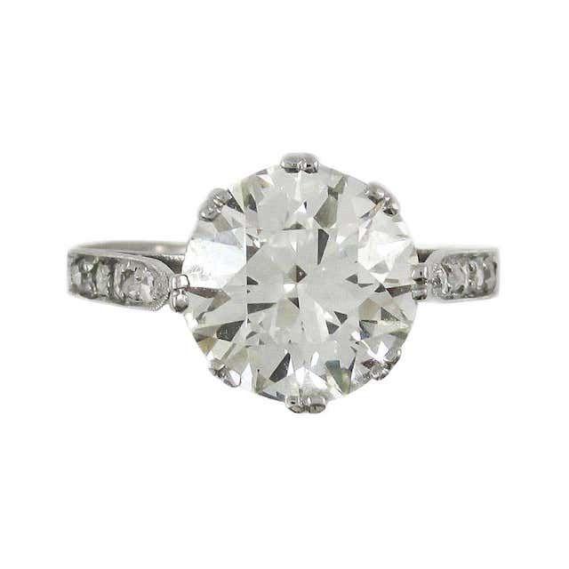 1stDibs Old European Cut Diamond Platinum Engagement Ring