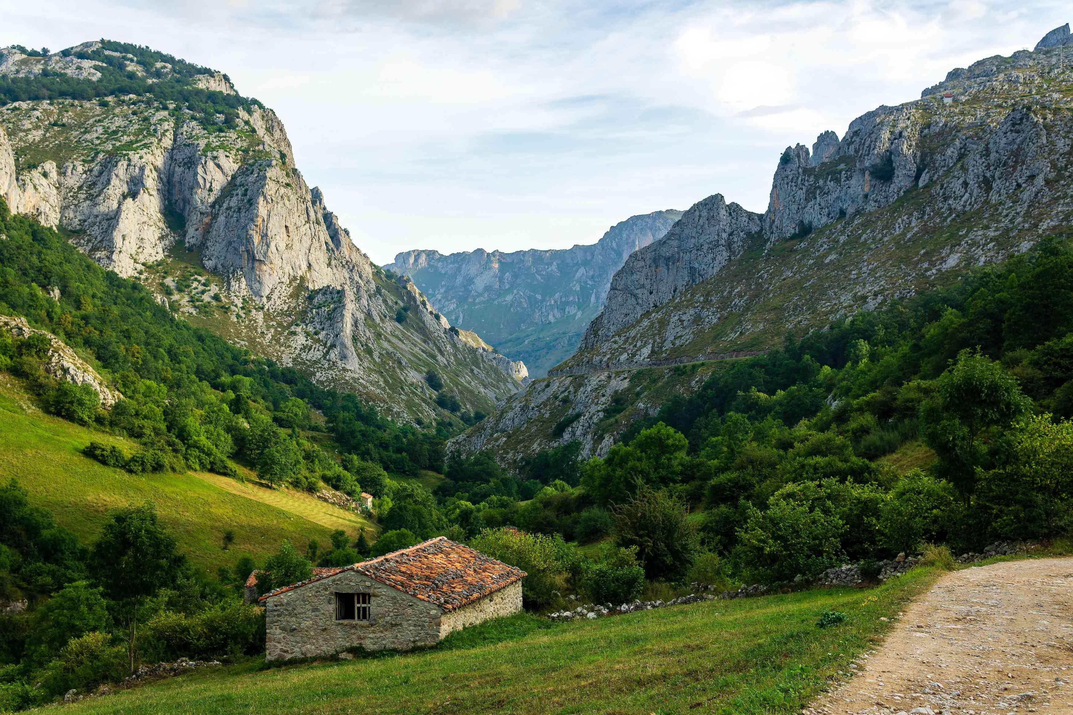 The Cares Route of Picos de Europa in Gijon, Spain