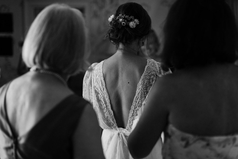 Bride wearing bun