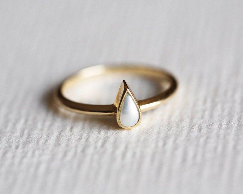 Capucinne Pearl Engagement Ring