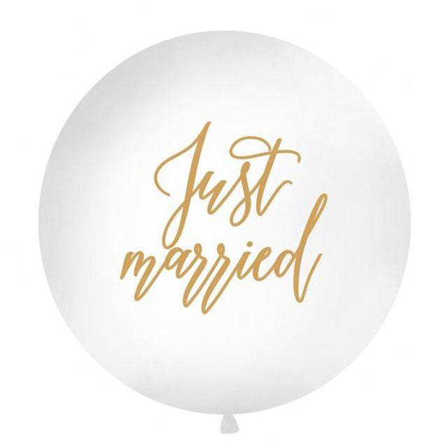 Jumbo Just Married Balloons