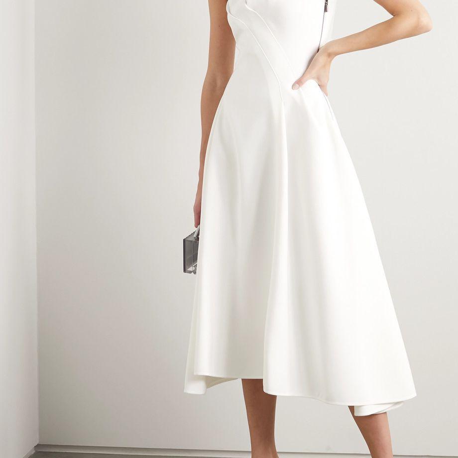 Maticevski Assured Gathered Cady Midi Dress $1,510