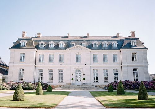French chateau with white exterior