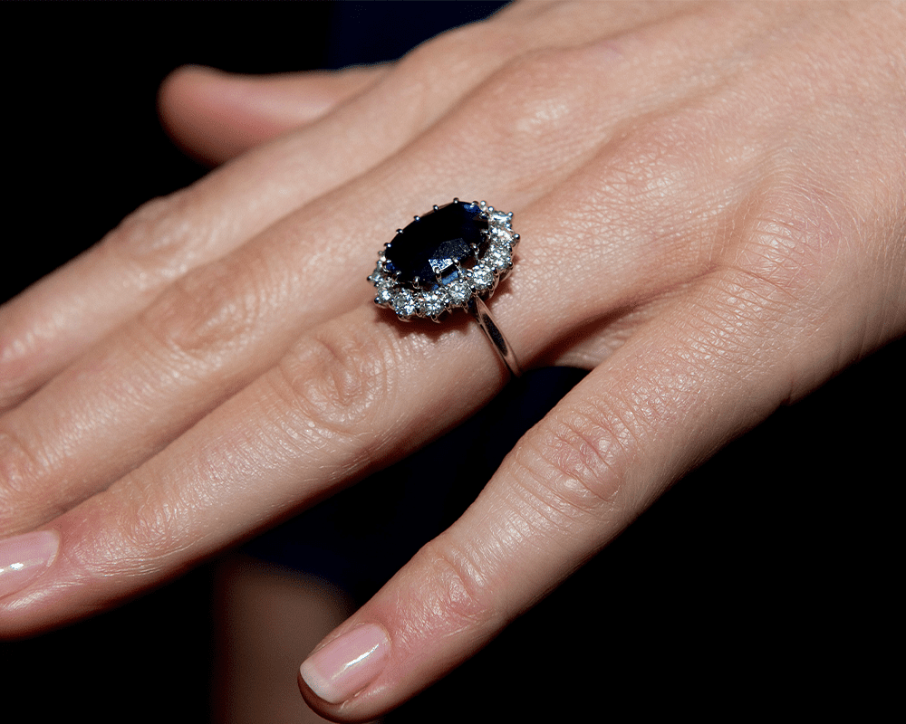 Sapphire ring close up