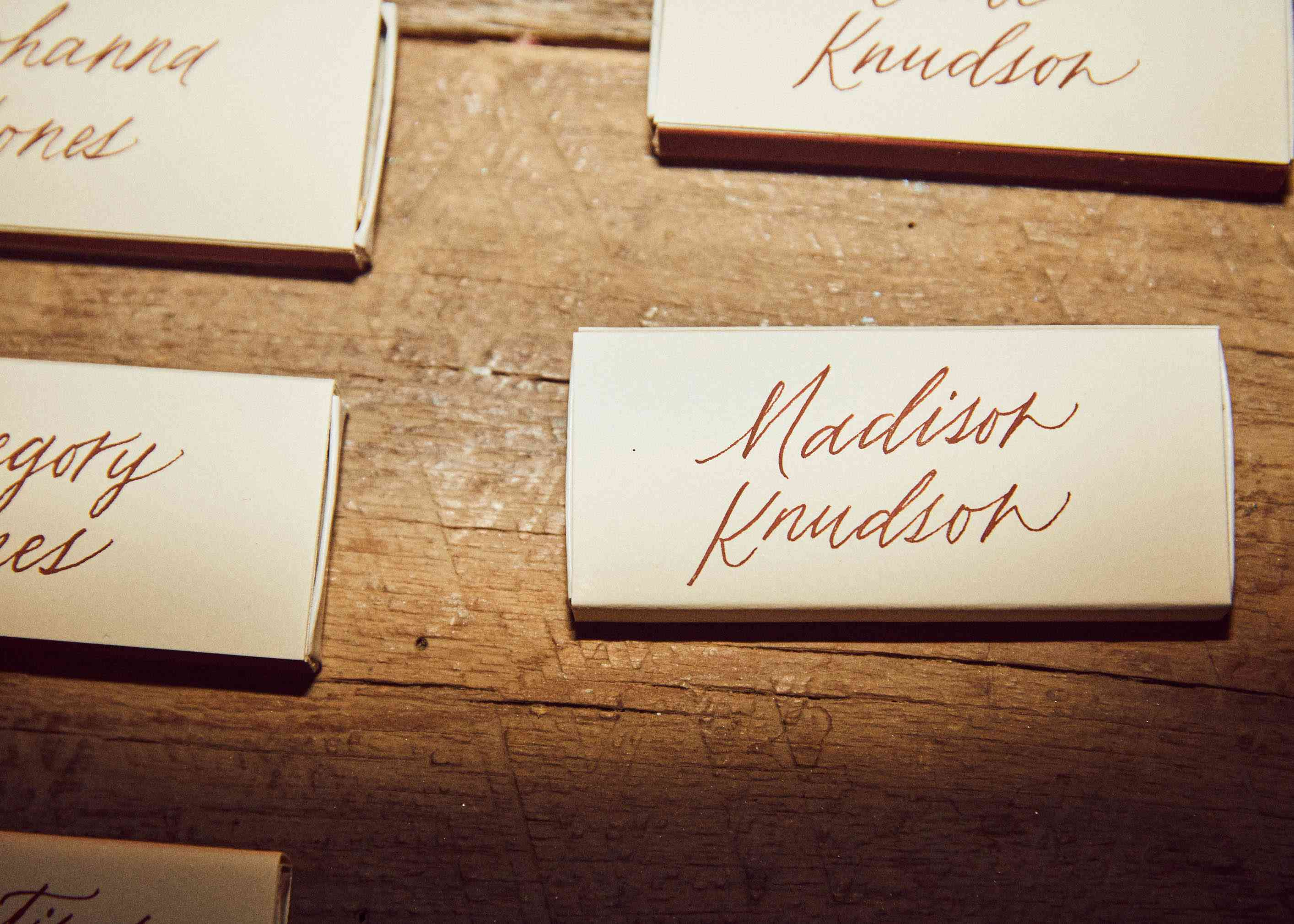 Name Place cards with calligraphy