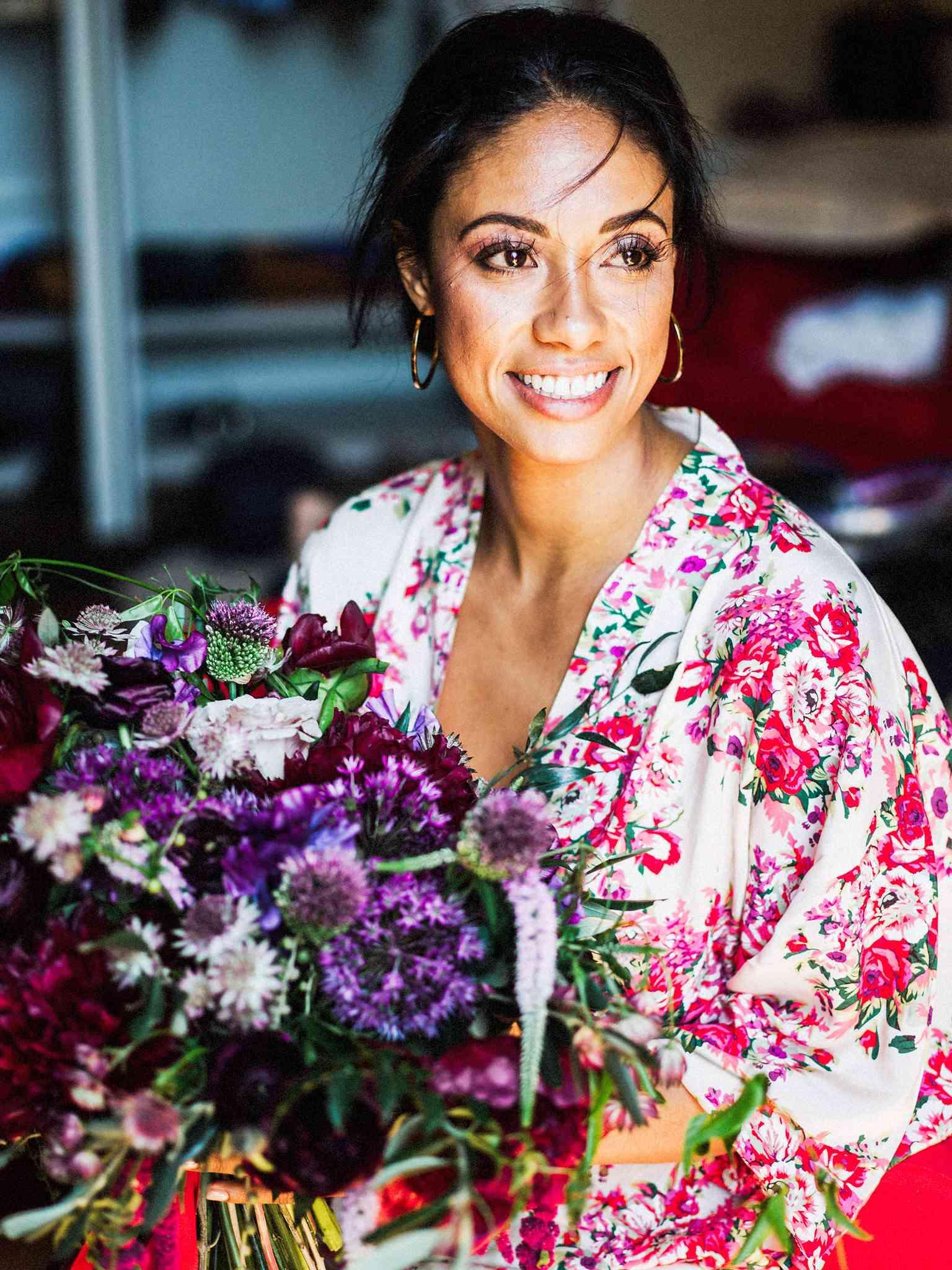 <p>Bride in Robe</p><br><br>