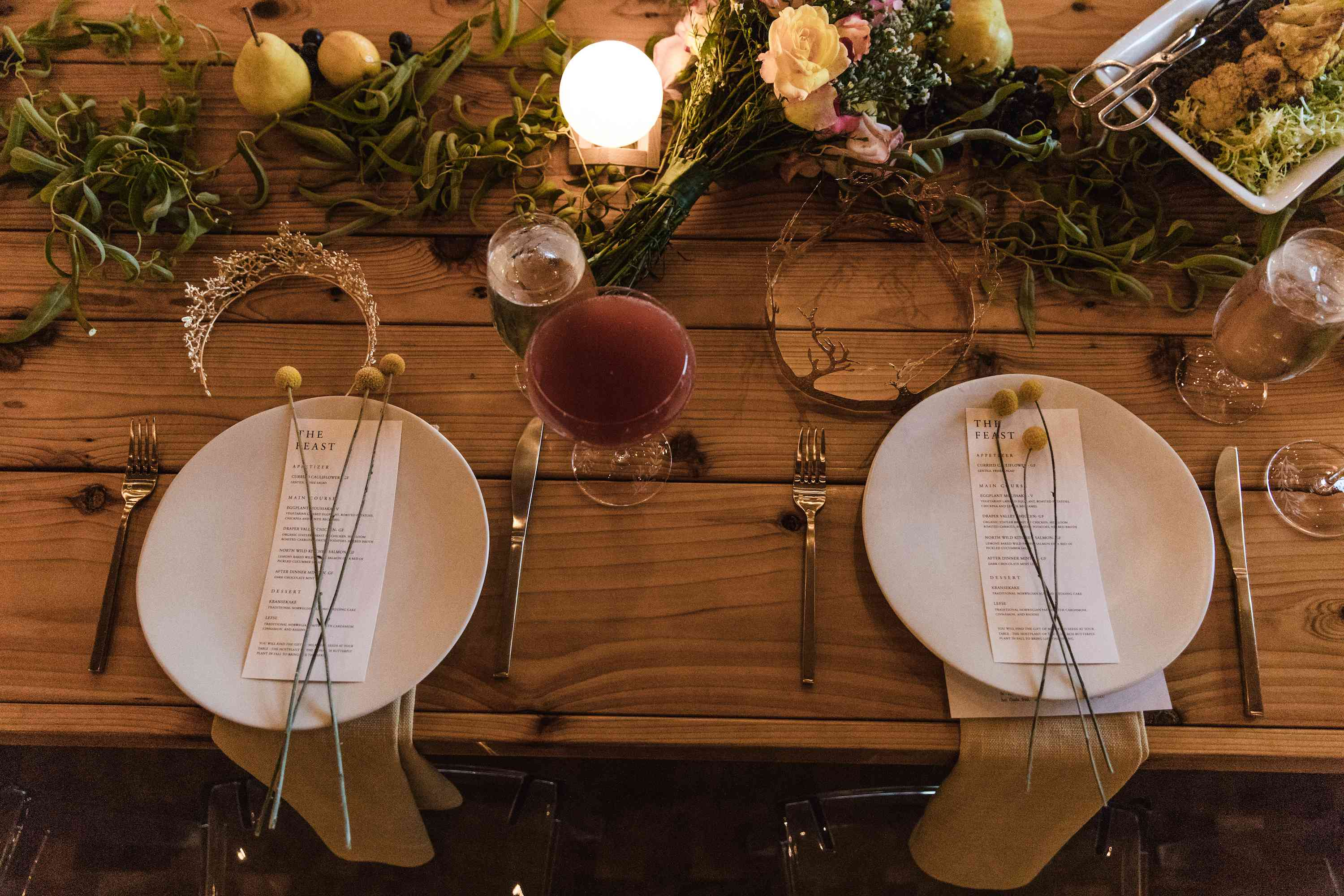 place setting cocktail