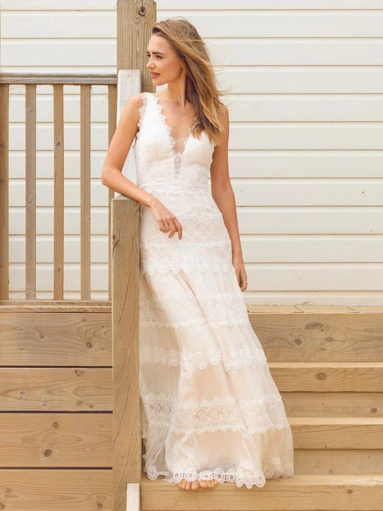 Catherine Deane silk chiffon Genevieve gown