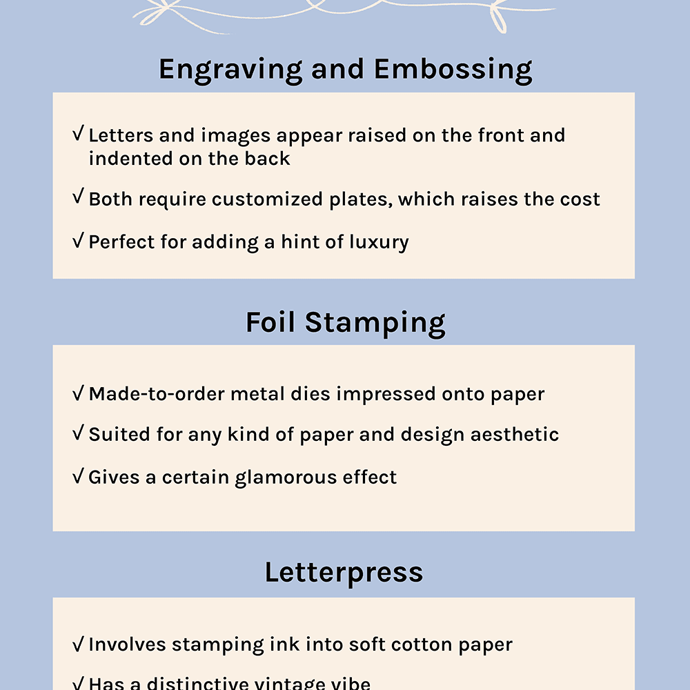 Printing Techniques for Wedding Invitations