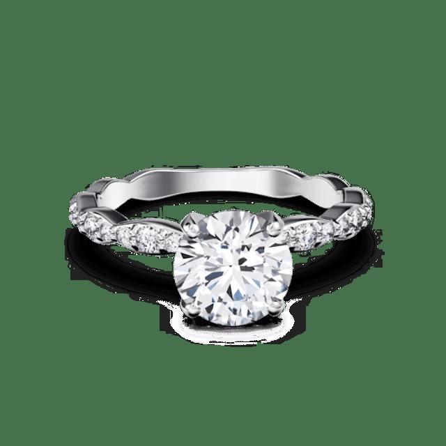 Great Heights Dune Modern Diamond Engagement Ring