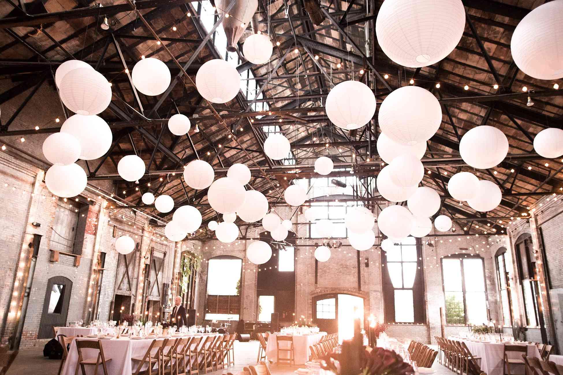 <p>paper lanterns cafe lights</p><br><br>