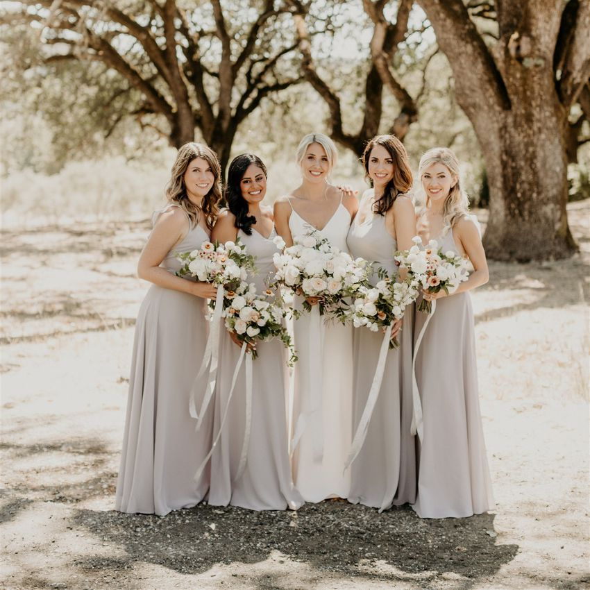chiffon bridal party dresses