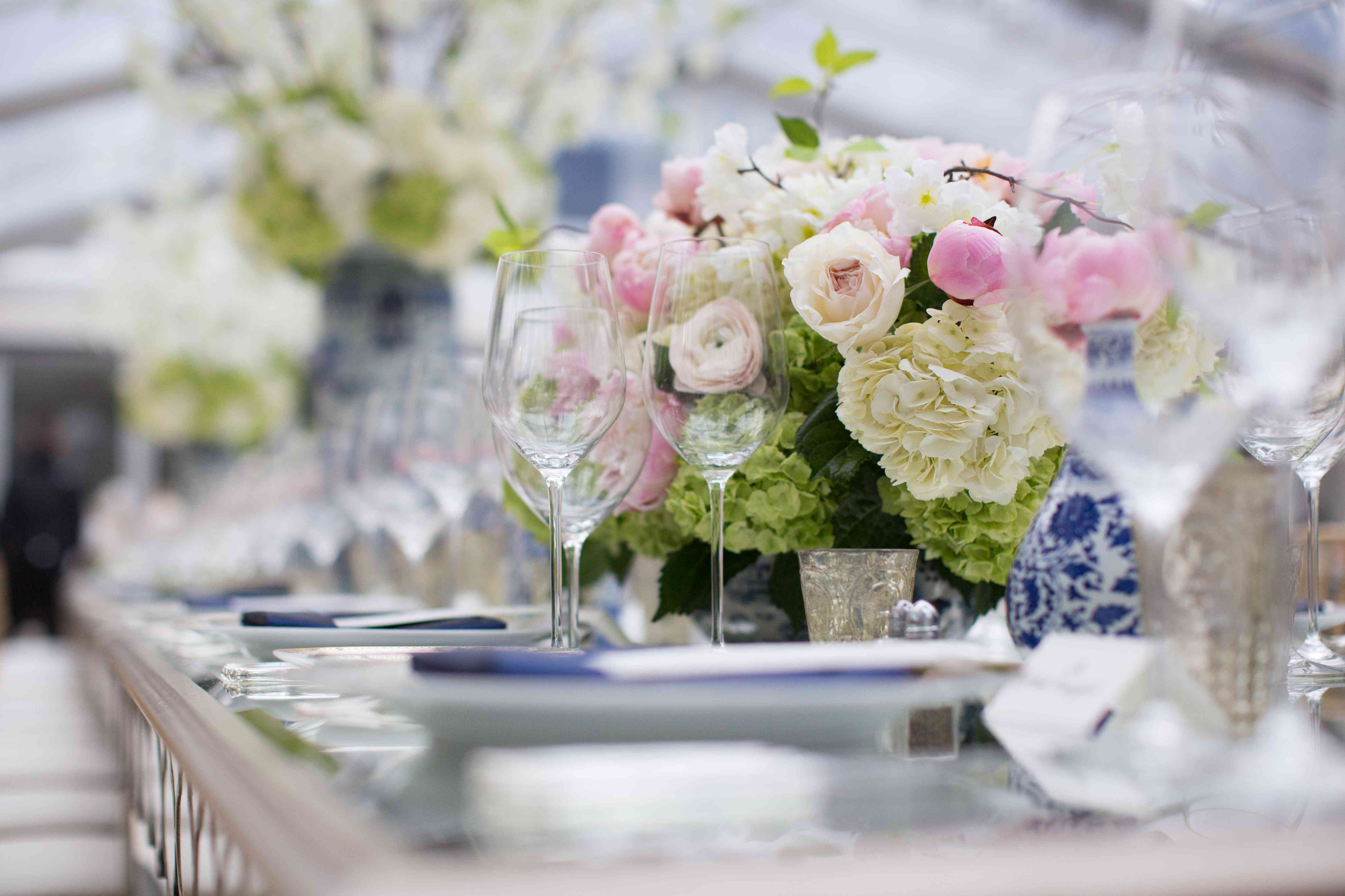 <p>Pink and Green Centerpiece</p><br><br>