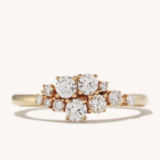 Mejuri Diamonds Cluster Ring