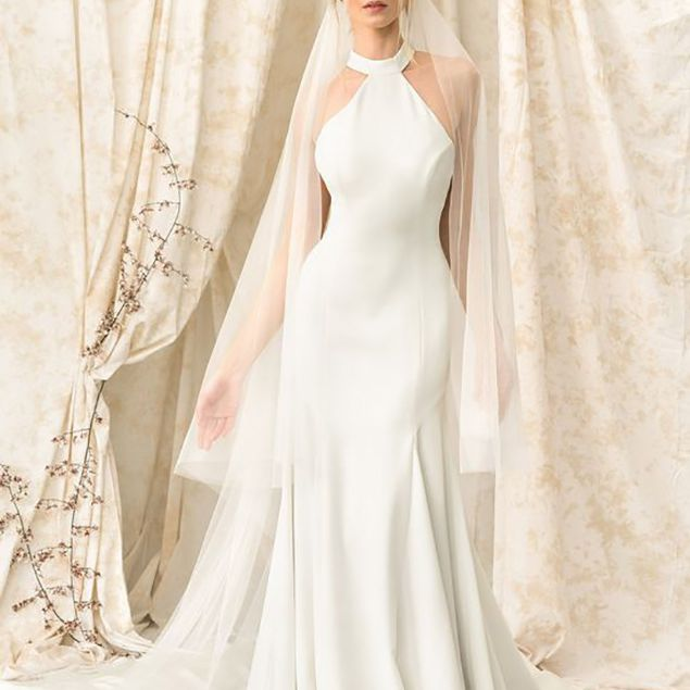 High Neck Wedding Dresses 46 Elegant Options For Every Style,Corset Short Wedding Dresses With Train