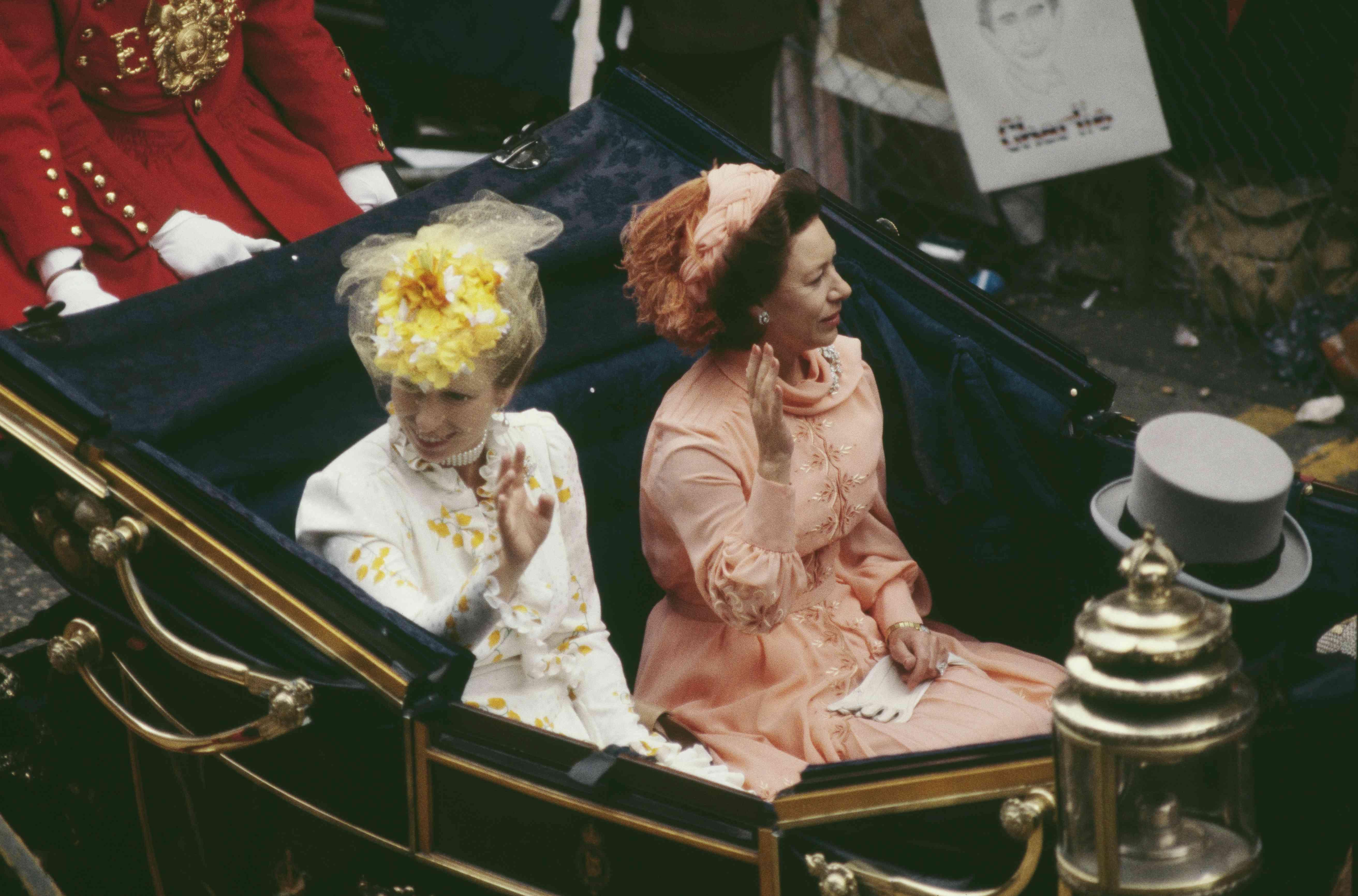 Princess Anne and Princess Margaret