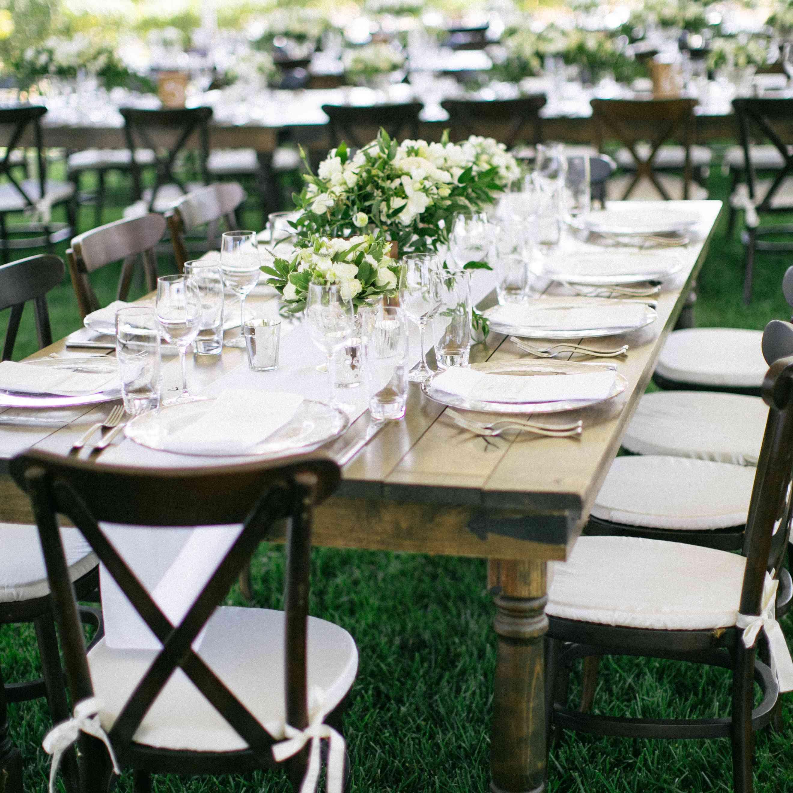 Reception tablescape