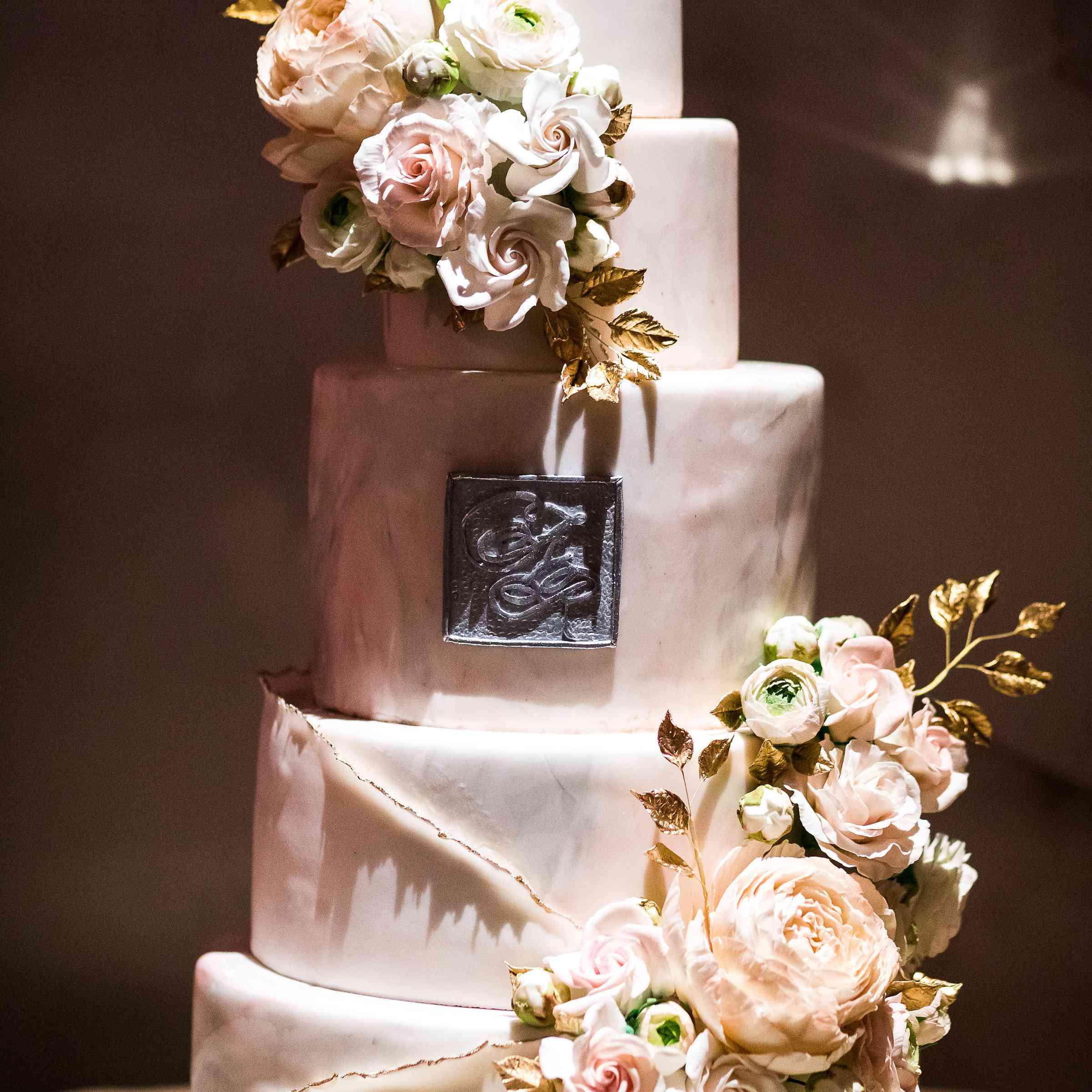 five-tier wedding cake