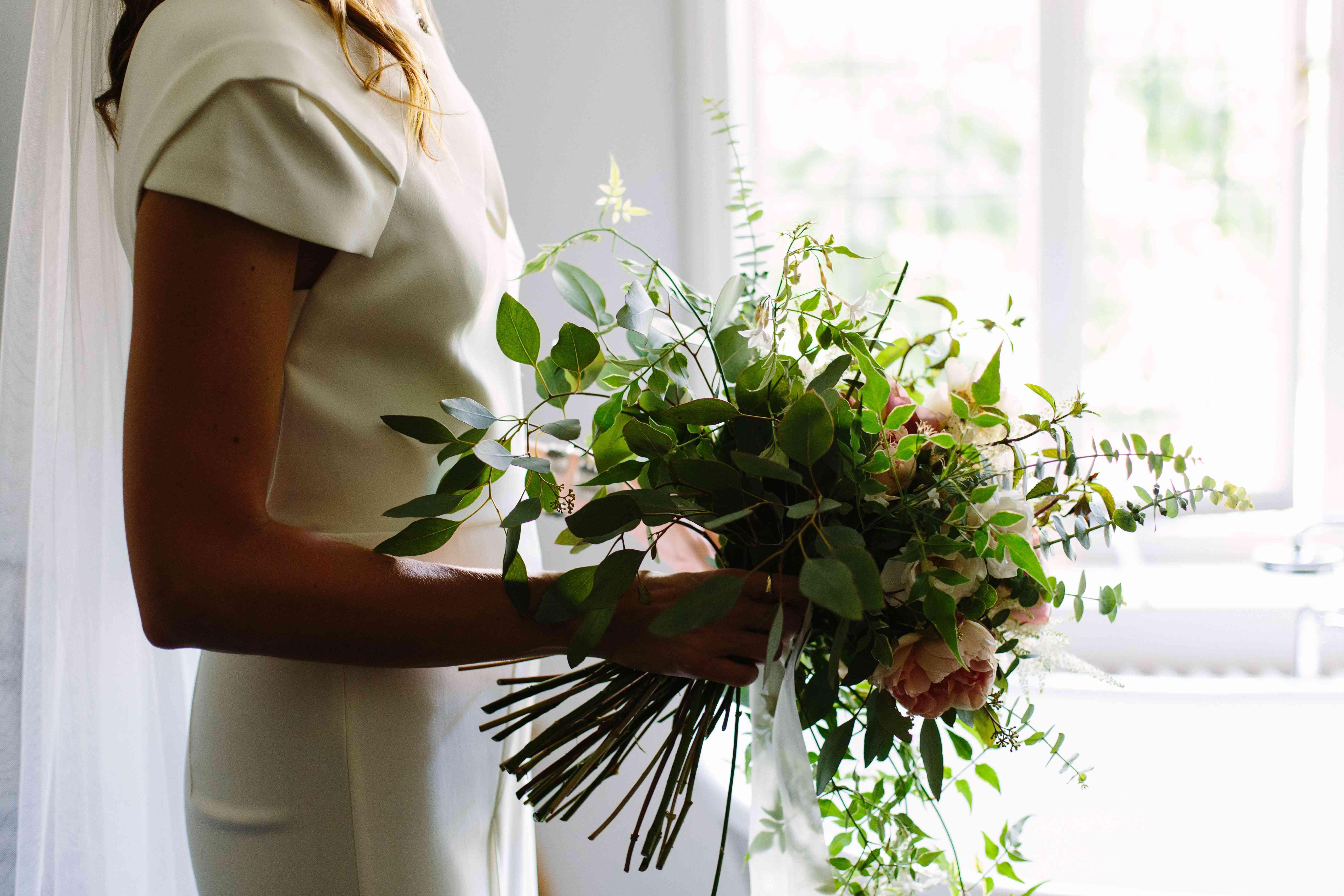 Bride with Bridal Bouquet