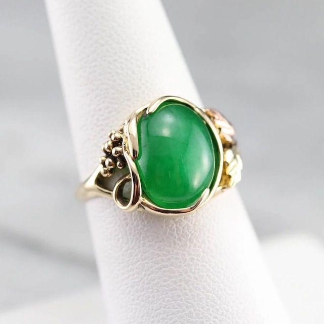 Market Square Jewelers Black Hills Gold Jade Ring