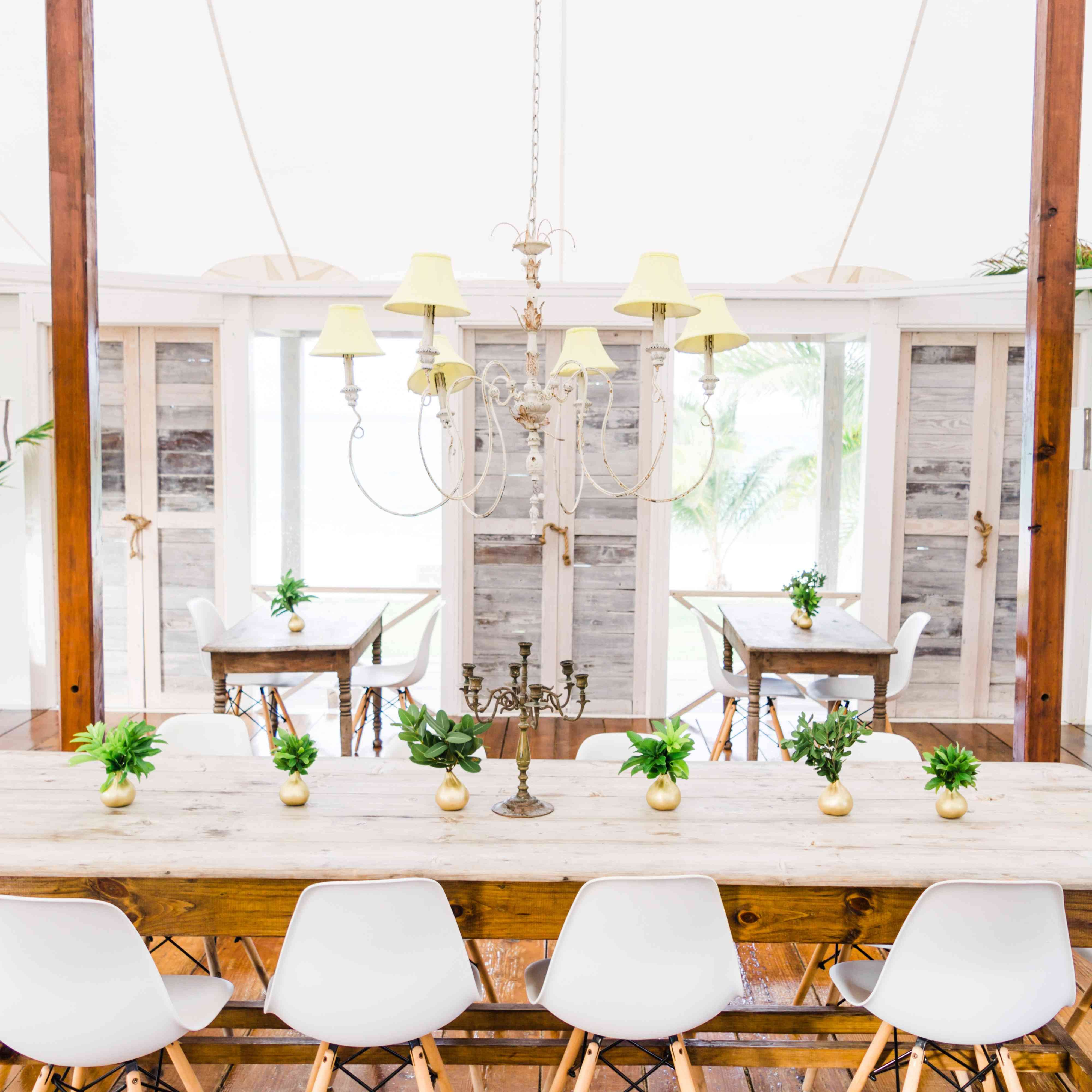 <p>wood reception seating under tent</p><br><br>