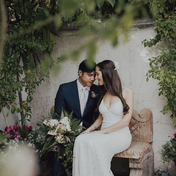 Troian Bellisario And Patrick J Adams Wedding Is The Stuff Of Boho Bridal Dreams