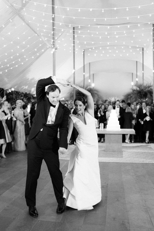 augusta wedding, first dance