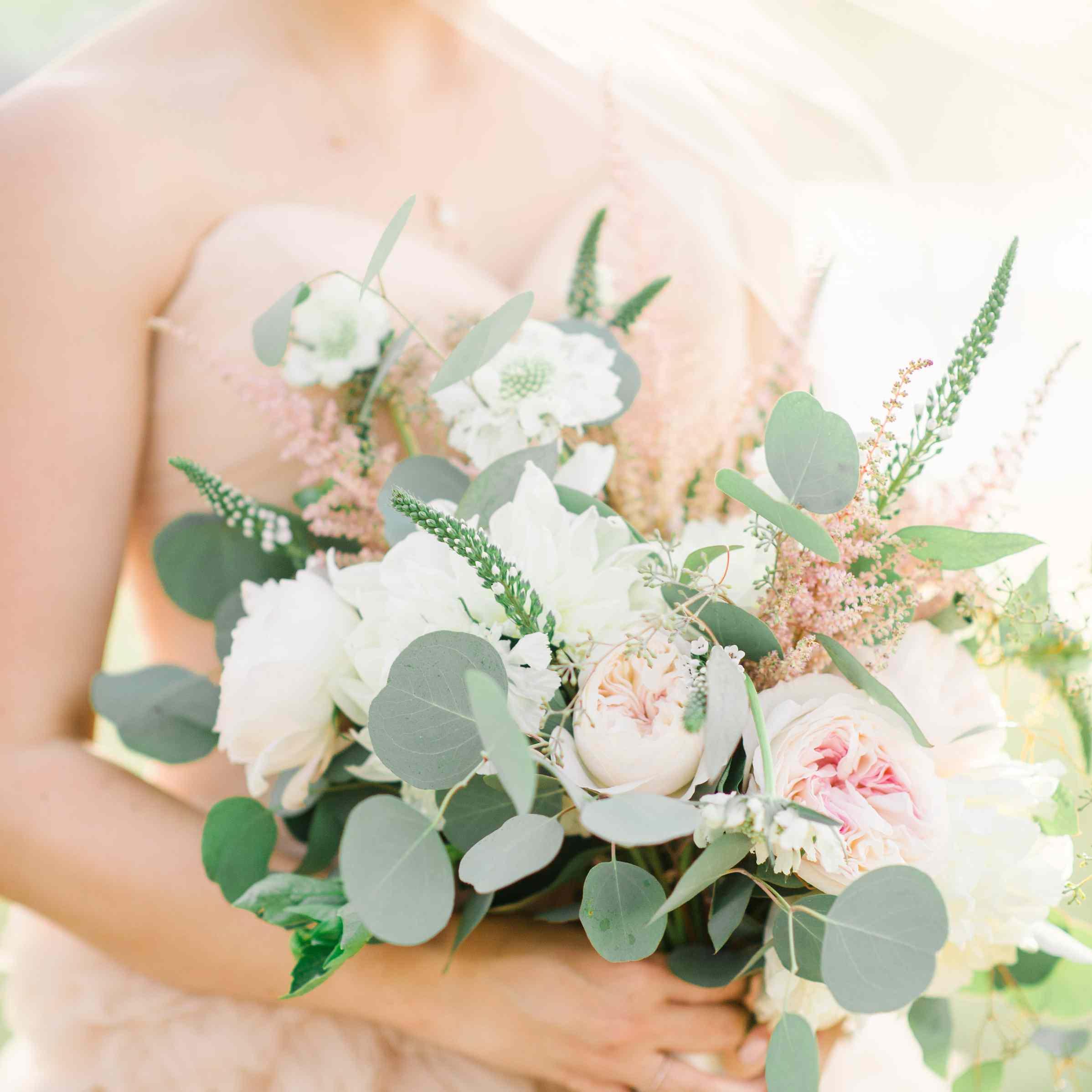 Pale Pastel Peony bouquet