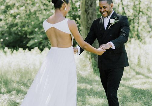 <p>groom first look reaction</p>