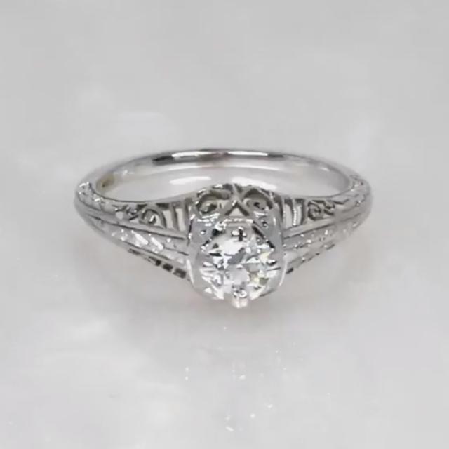 Maeby Vintage Old Euro Diamond Ring