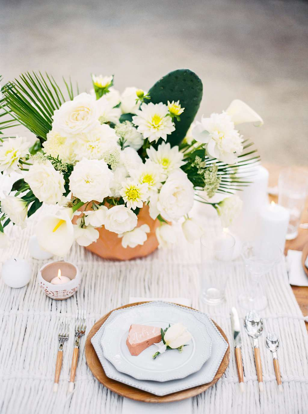 Summer Wedding Reception Tablescape