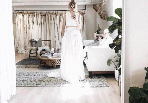 Bride shopping.