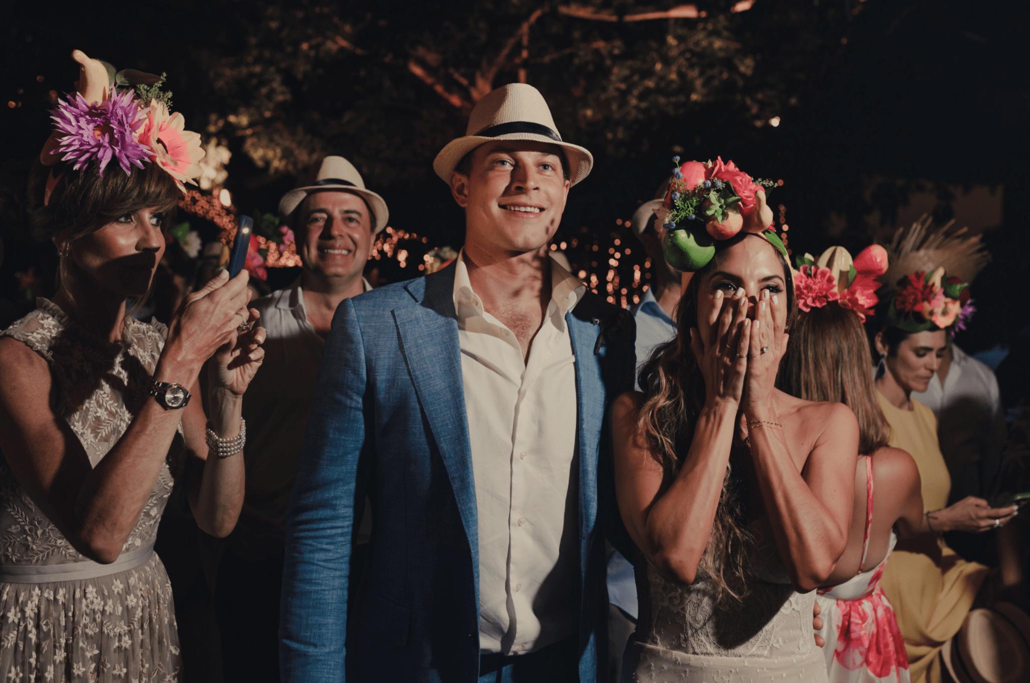 Wedding Guests in Hats