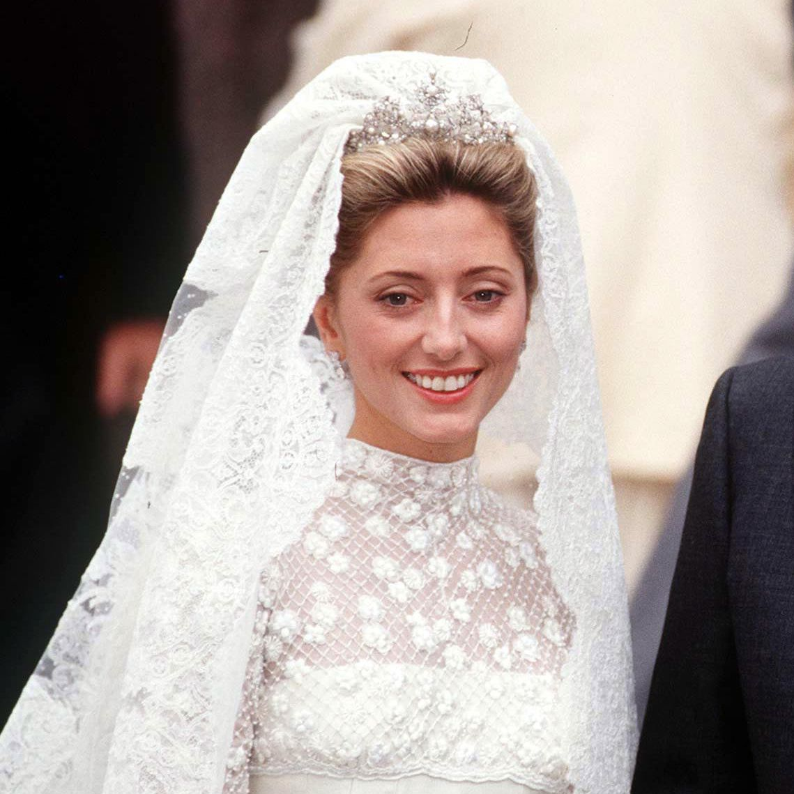 Marie Chantal Miller on her wedding day