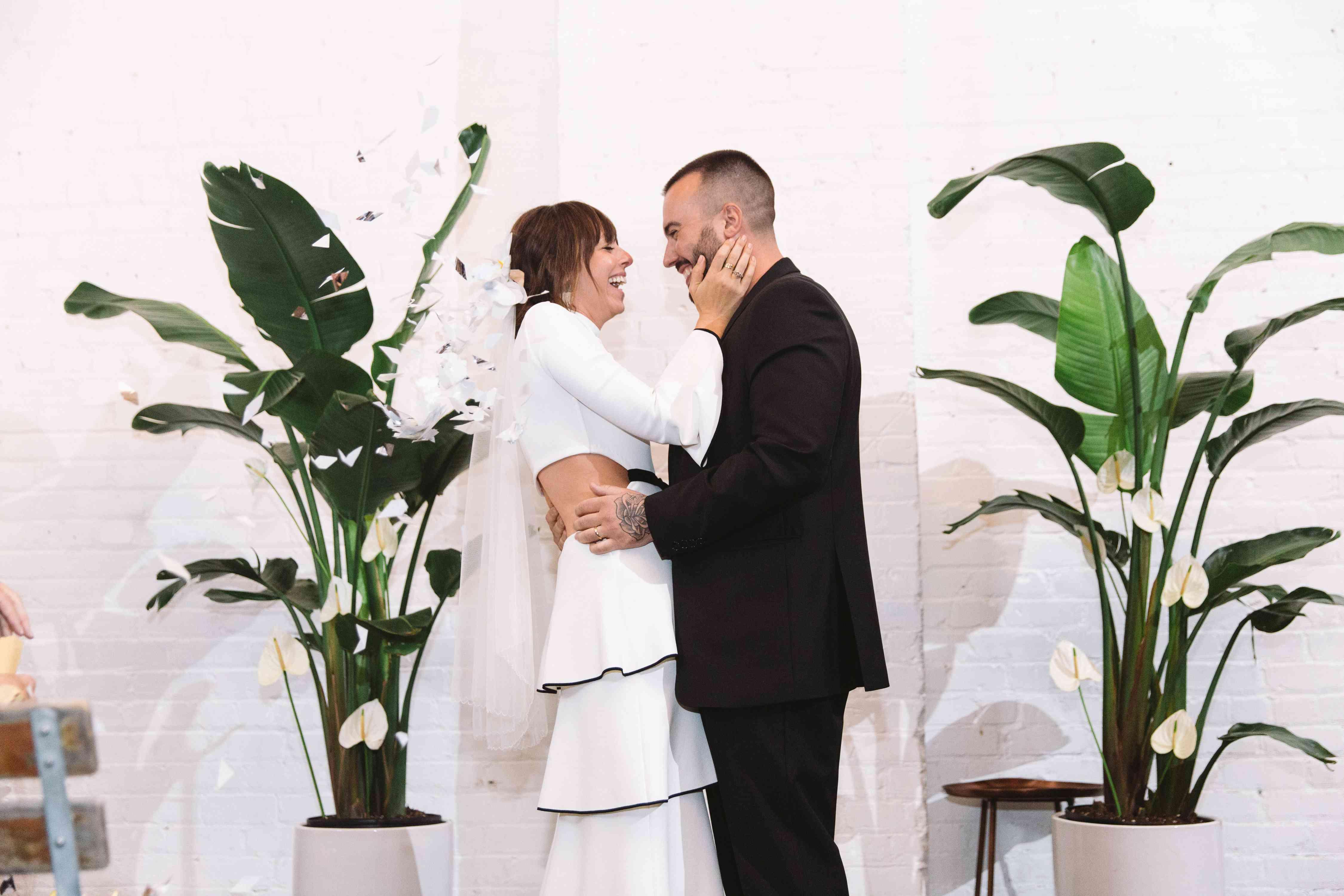 modern newlyweds