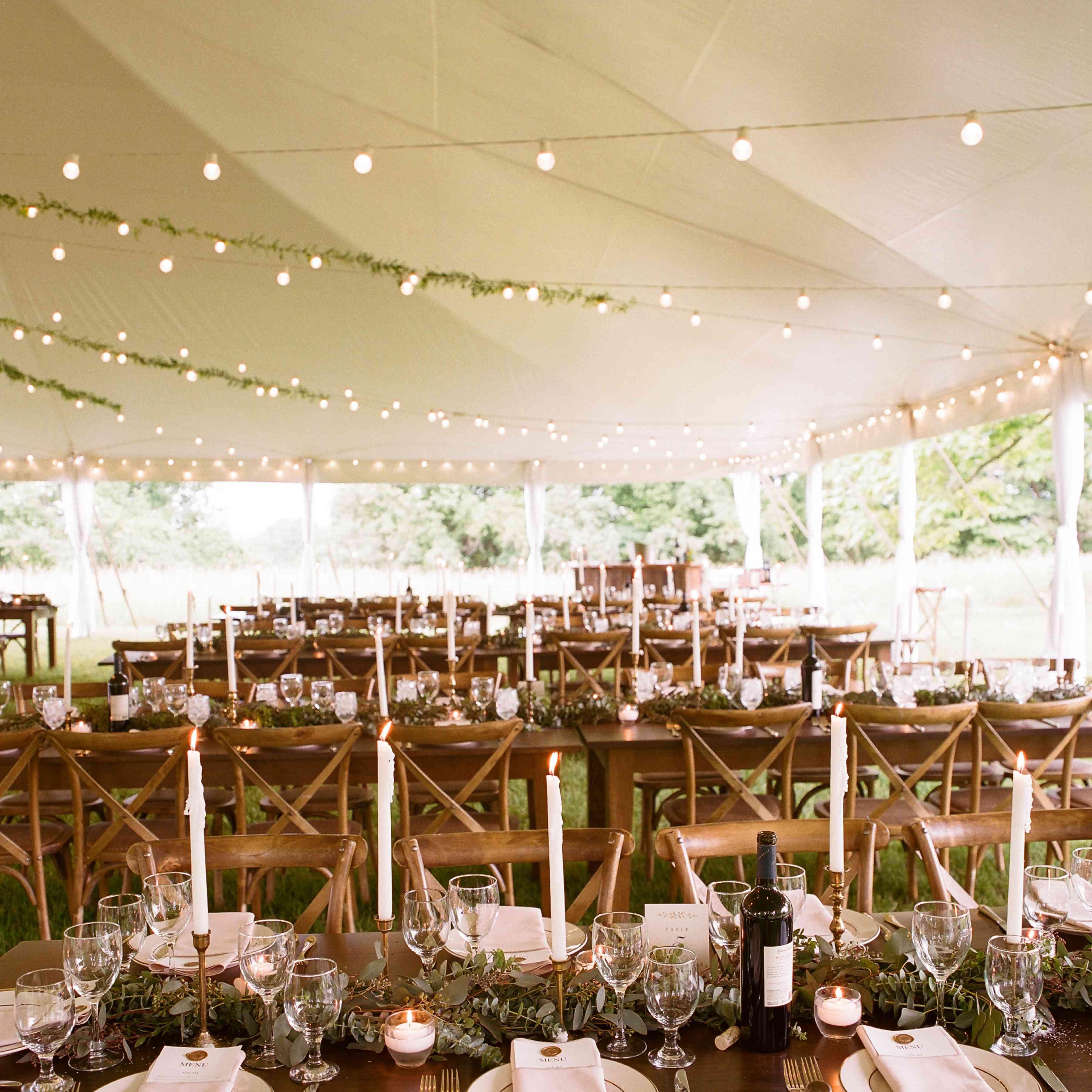 tablescape long farm tables