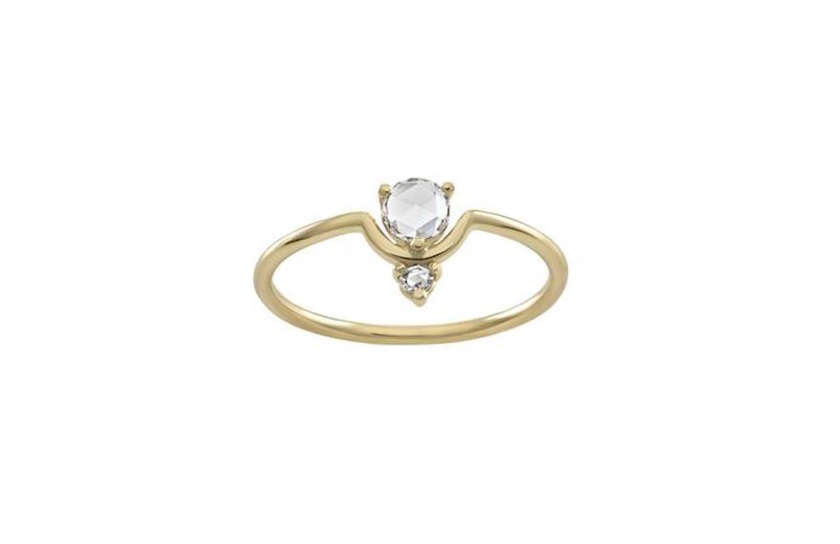 Wwake Nestled Rose Cut Diamond Ring