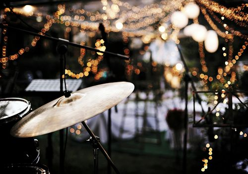 Close-Up Of Drums At Wedding Party