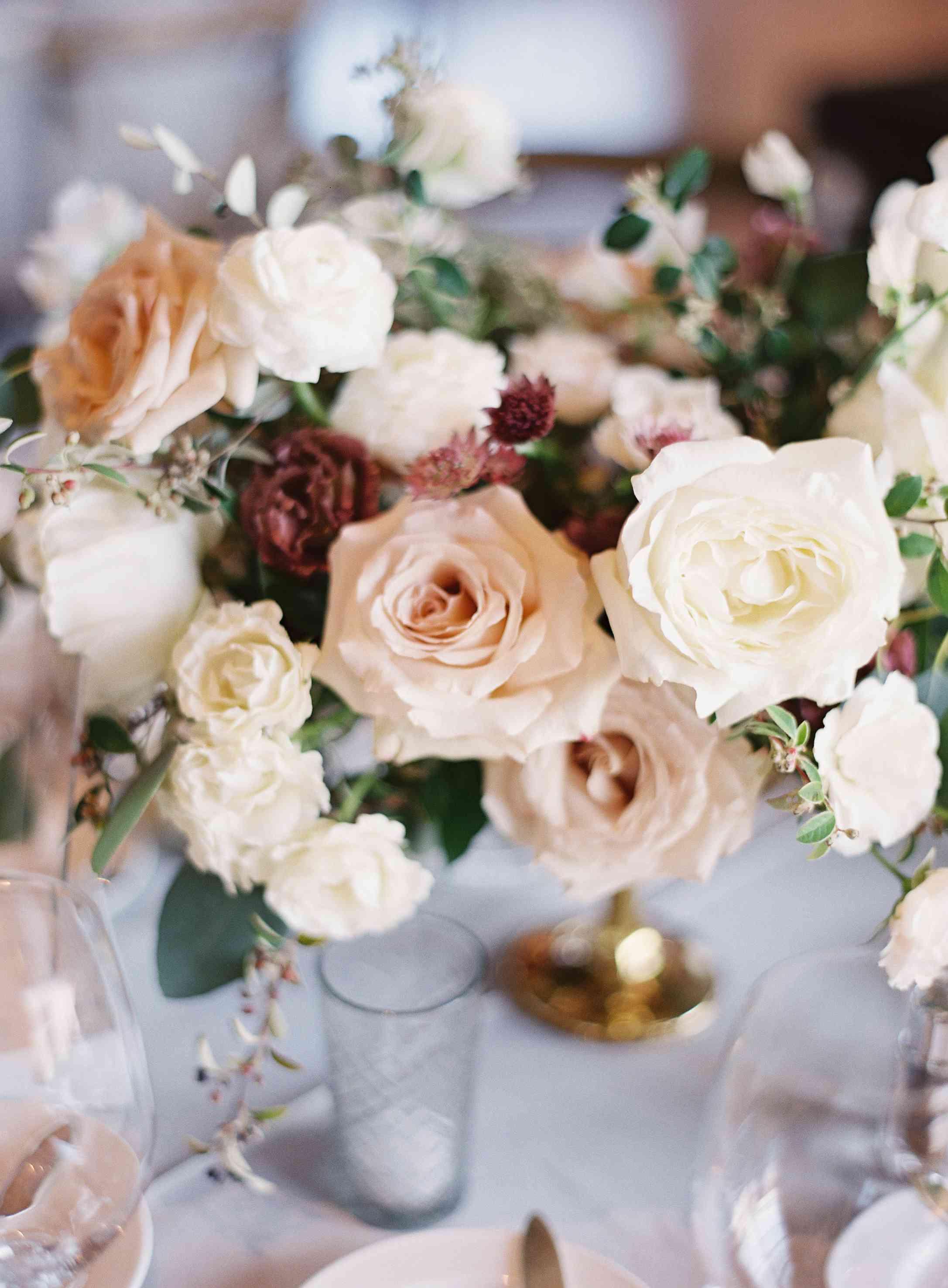 romantic flower centerpiece