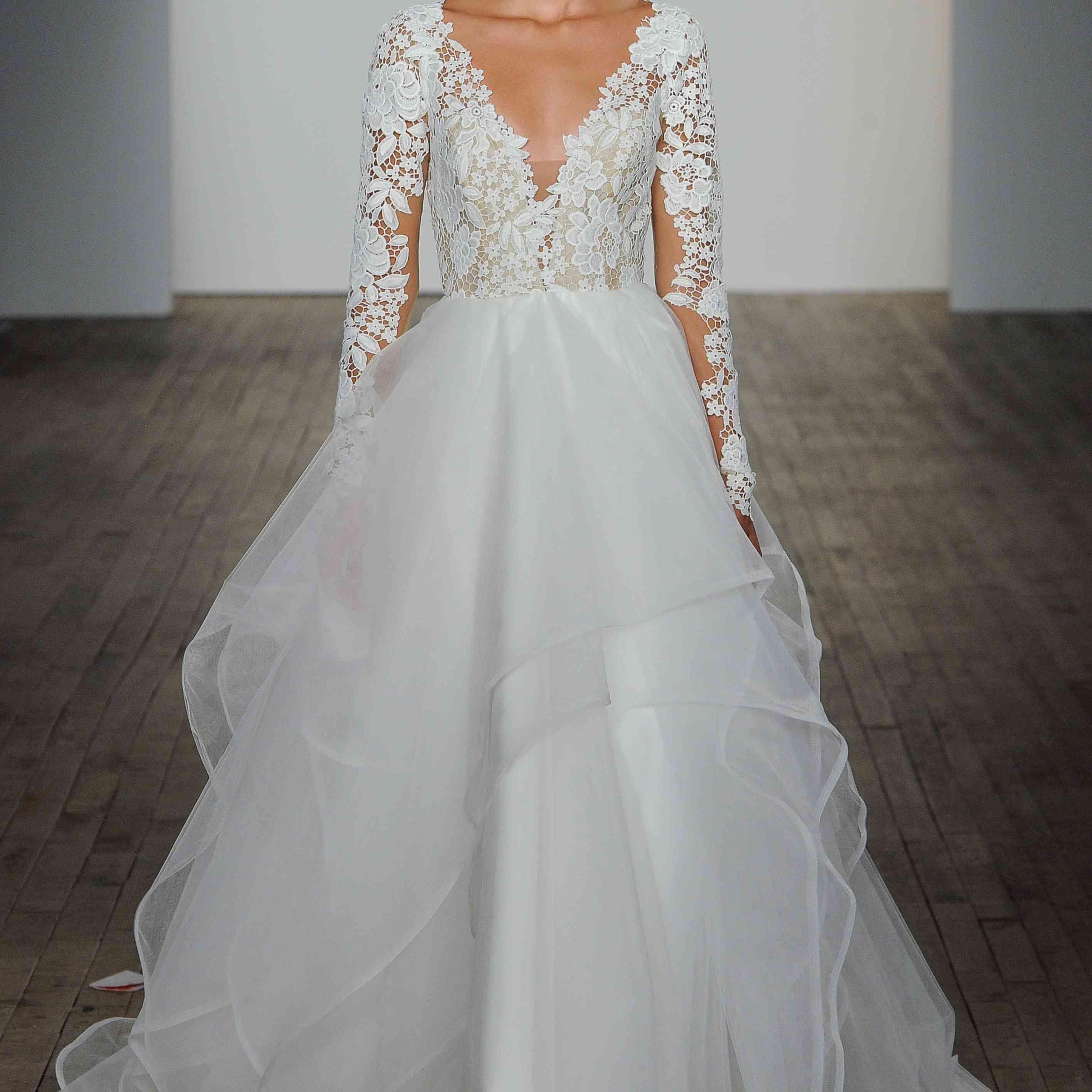 Praise long sleeve wedding dress