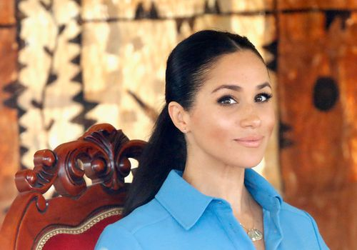 Meghan Markle at Tupou College on October 26, 2018 in Nuku'alofa, Tonga.