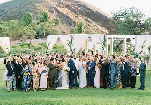 <p>wedding guests</p>