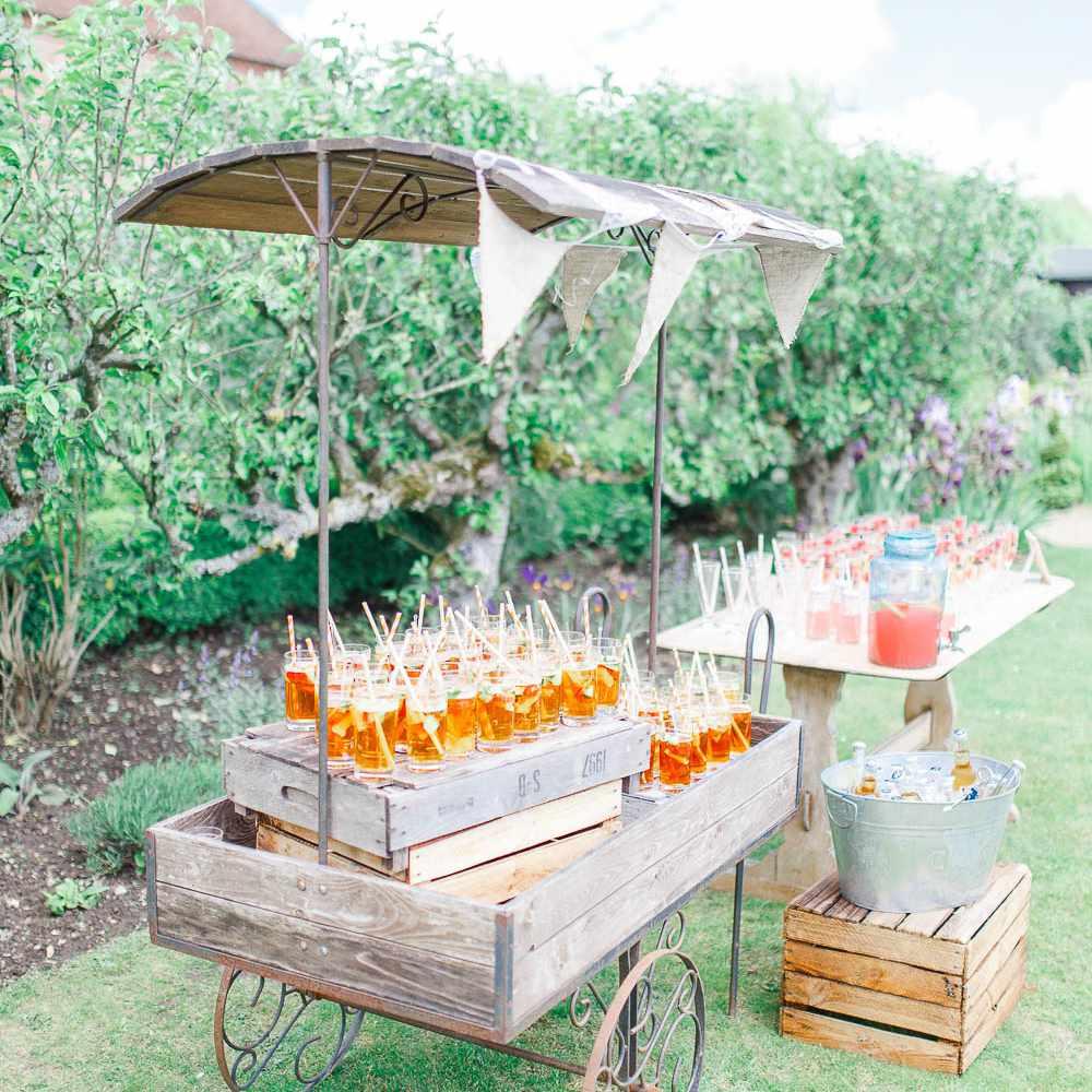 Rustic drink cart