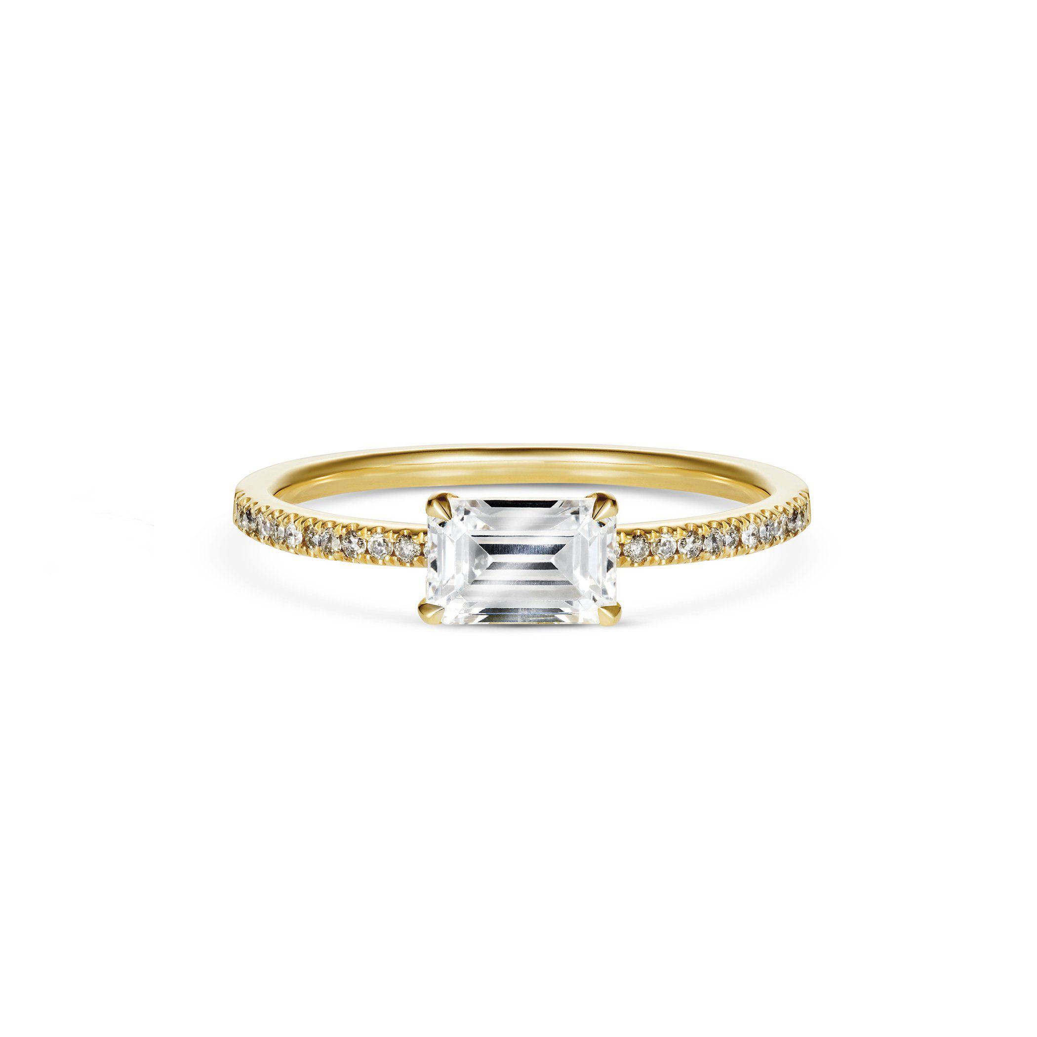 Rachel Boston Contra Emerald Ring