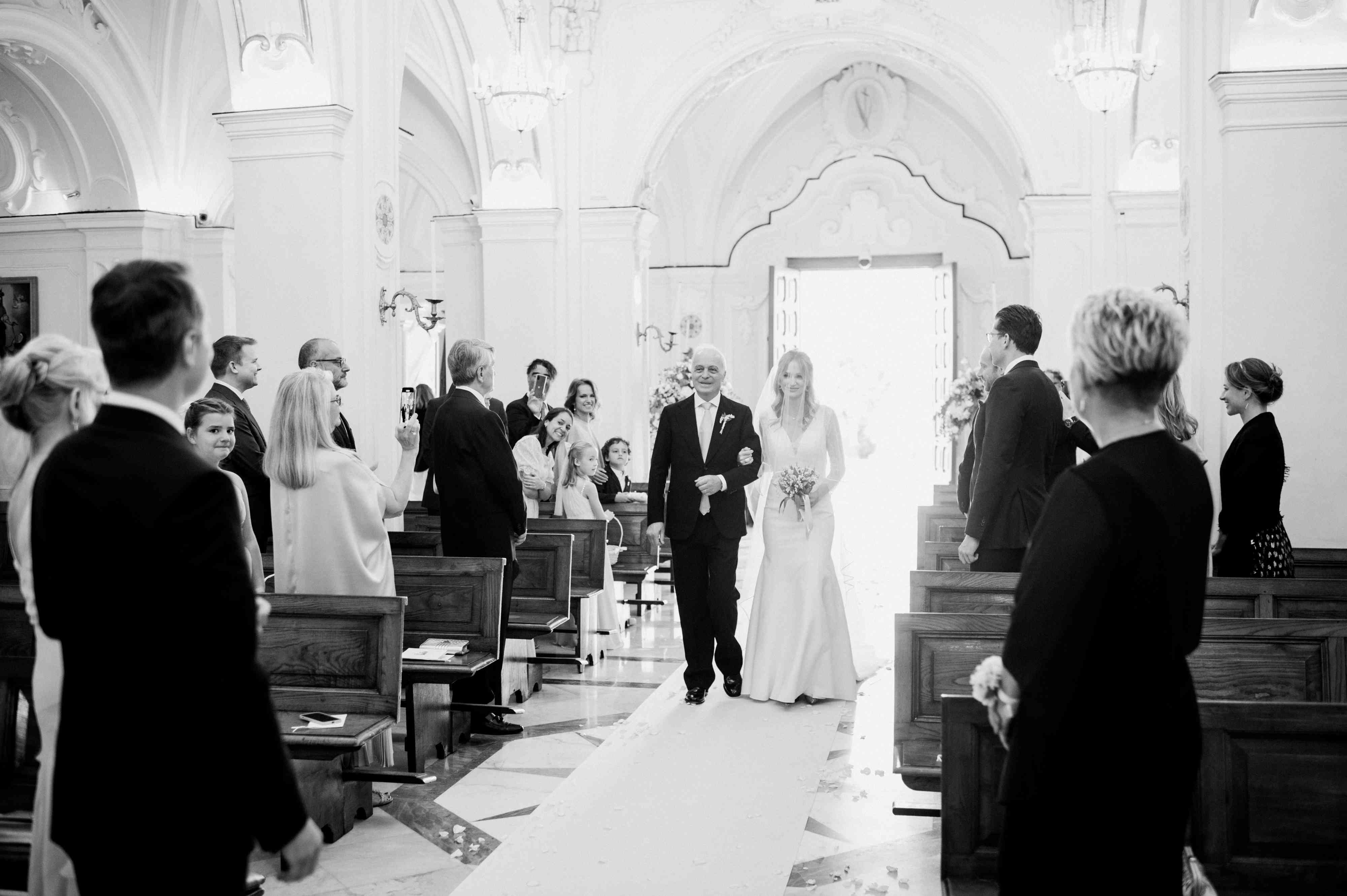 Escorted down the aisle