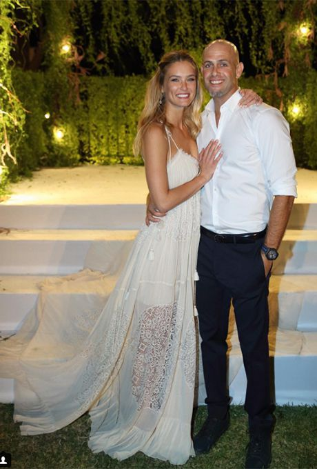 Sports Illustrated model Bar Refaeli marries Adi Ezra in a bohemian Chloé gown, 2015